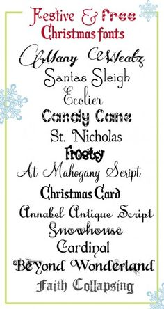 Festive and Free Christmas Fonts!