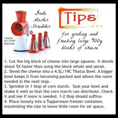 Cheese grating tips