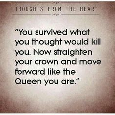 Straighten your crown and keep moving forward..... your highness  ;)