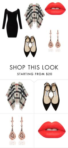 """""""night out"""" by kaisa-orr on Polyvore featuring Burberry, Jimmy Choo, Lime Crime and Miss Selfridge"""
