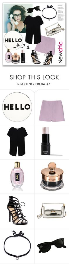 """Hello with Lucy Hale and NewChic.com"" by molnijax ❤ liked on Polyvore featuring Lisa Perry, Yves Saint Laurent, Liliana, Marni, DANNIJO, Ray-Ban and Jayson Home"