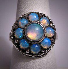 Rare Antique Georgian Opal Ring Pre - Victorian Vintage Wedding Ring. $1,895.00, via Etsy.