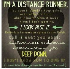 I'm a distance runner.... & I don't know how to give up.  #running #runitfast #RunningDay