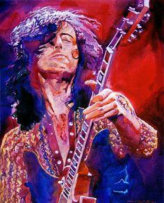 http://custard-pie.com  Jimmy Page - Led Zeppelin Art Print