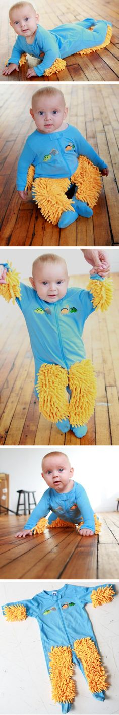 It's a Mop! No it's a Baby! No it's Baby Mop! Look it cleans up after it's self! So you don't have to!!! Hahaha Trina I am so getting this for you!   Baby Mops make great baby shower gifts. $34.99