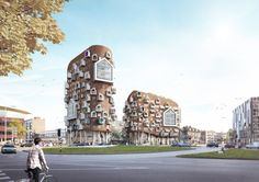 Maarten Baas put two teams from Van Aken Architecten head to head to conceptualize a new complex for Eindhoven via Frameweb.com