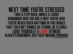 confidence verses tumblr - next time you are stressed - Ami Quotes