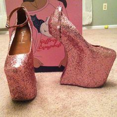 Jeffrey Campbell, Crazy heel, Pink, PINK glitter