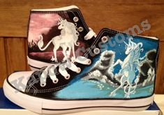 The last unicorn Converse by ~KapowMan on deviantART