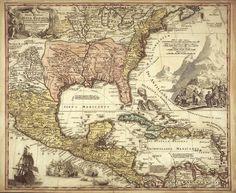 nouvelle espagne. Древние карты мира в высоком разрешении - Старинные карты