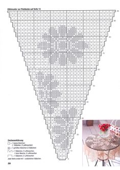 "Photo from album ""Decoratives Hakeln on Yandex. Crochet Doily Diagram, Crochet Squares, Filet Crochet, Crochet Motif, Crochet Designs, Crochet Doilies, Crochet Flowers, Crochet Patterns, Crochet Table Runner"