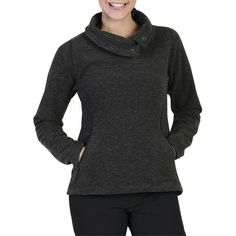 ExOfficio Lillyput Fleece Pullover - Slouch Collar (For Women) in Black