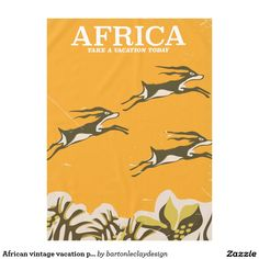 African vintage vacation print tablecloth