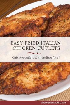 Try Easy Italian Fried Chicken Cutlets Recipe Italian-style! - - Try Easy Italian Fried Chicken Cutlets Recipe Italian-style! Here's an Easy Fried Chicken Cutlets Recipe Italian-style! Serve with pasta, bread, salad or just as is! Easy Chicken Cutlet Recipes, Cutlets Recipes, Italian Chicken Recipes, Fried Chicken Recipes, Boneless Chicken Recipes Easy, Simple Chicken Recipes, Easy Italian Recipes, Recipe Chicken, Rotisserie Chicken