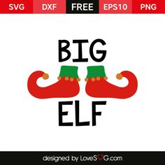 *** FREE SVG CUT FILE for Cricut, Silhouette and more *** Big Elf