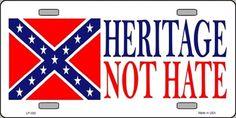Confederate Rebel Flag Heritage not Hate License Plate | eBay