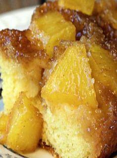 Pineapple Upside Down Caramel Poke Cake-Super yummy! Everyone loved them!