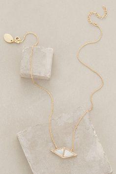 nacre zephyr pendant necklace / anthropologie