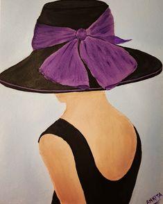 #girl #beautiful #art #artist #artistic #myart #acrylic #painting #paint #arte #artwork #creative #artoftheday #instagram #color #love #painter #artsy #pinterest #face #facepainting #shadow #swag #beauty #fun #paintingoftheday#hat Painting Pictures, Pictures To Paint, Art Pictures, Acrylic Paintings, Artist Painting, Oil Paintings, Krishna Radha, Purple Love, Beginner Painting