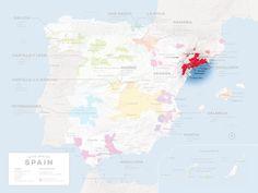 Location of Priorat in Spain. General Taste styles of Priorat's 12 sub-zones  Wines with big structure and high tannins: El Lloar, La Morera de Montsant, Bellmunt, Poboleda Wines with big structure, tannin, and a long aftertaste: Gratallops, Escaladei Harmonious wines with finer tannins: Molar, Porrera, Masos de Falset, Torroja Finessed, elegant wines: Vilella Baixa, Vilella Alta