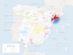 Location of Priorat in Spain. General Taste styles of Priorat's 12 sub-zones  Wines with big structure and high tannins: El Lloar, La Morera de Montsant, Bellmunt, Poboleda Wines with big structure, tannin, and a long aftertaste: Gratallops, Escaladei Harmonious wines with finer tannins: Molar, Porrera, Masos de Falset, Torroja Finessed, elegant wines: Vilella Baixa, Vilella Alta
