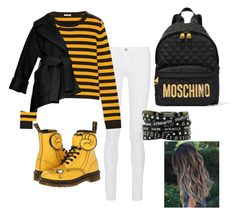 """""""N Z"""" by akaelif on Polyvore featuring Frame Denim, Miu Miu, Dr. Martens, Moschino, Carven, women's clothing, women, female, woman and misses"""