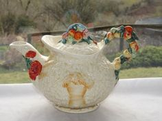 Clarice-Cliff-Newport-Pottery-Art-Deco-1930s-Celtic-Harvest-Tea-Pot-Teapot