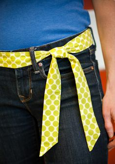 Cute fabric belt to wear with jeans - tutorial