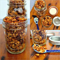Granola with mixed nuts and coconut - The Foodie Affair