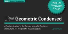Font dňa – URW Geometric Condensed   https://detepe.sk/font-dna-urw-geometric-condensed