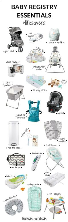 The moms have spoken! These are the best baby registry must haves, including all the baby registry essentials and lifesavers that you dont want to forget. The Mom Friend surveyed real moms to find out what baby gear and newborn necessities they love most so you can create the perfect registry. | Baby sleep | Baby Shower Gifts | What to Put on Baby Registry | Baby Registry Tips | Amazon Baby Registry items