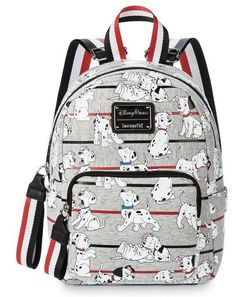 Your dotted style statement will be easy to spot when you stash your essentials in this 101 Dalmatians Mini Backpack, featuring allover screen art of canine characters paired with striking seatbelt material straps. Luxury Handbags, Fashion Handbags, Purses And Handbags, Hobo Handbags, Unique Purses, Cute Purses, Cute Mini Backpacks, Disney Purse, Disney Handbags