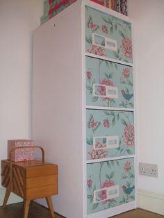 Stitch And Bake: DIY Decorative Filing Cabinet