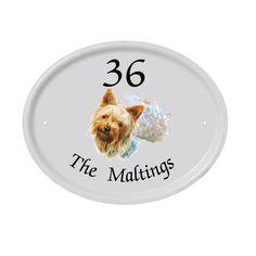 House Name Signs House Name Plaques, House Name Signs, House Number Plaque, House Names, Sign Company, Ceramic Houses, Bespoke Design, Yorkshire Terrier, Plates On Wall