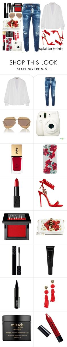 """Everyday - Ariana Grande"" by tamaramanhardt ❤ liked on Polyvore featuring Emilio Pucci, Dsquared2, Christian Dior, Fujifilm, Yves Saint Laurent, Casetify, NARS Cosmetics, Make, Dolce&Gabbana and Gucci"