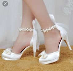 84396021c64 Woman Shoes White Ivory High Heels Round Toe Platform Ankle Strap Satin  Pumps Women s Wedding Bridal Shoes Prom Shoes     View the item in details  by ...