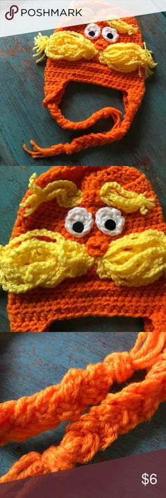 The Lorax Beanie 😀❤️ The Lorax!!! 😂❤️😀 Adorable 0-3 months beanie. Great for Halloween or upcoming weather! ❤️😀 keep your baby warm and stylish ❤️ handmade Accessories Hats