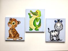 Nursery Room, Hand Painted, Canvas, Pictures, Crafts, Tela, Photos, Manualidades, Child Room