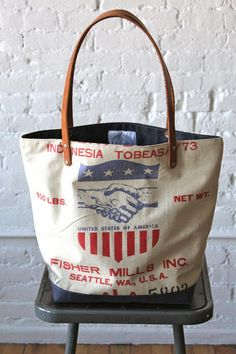1950's era Feed Sack Tote Bag