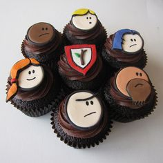 Order of the Stick Cupcakes! by clevercupcakes, via Flickr