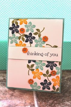 Thinking of You Card from The Stampin B www.TheStampinB.blogspot.com #StampinUp2014
