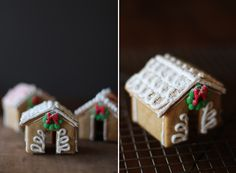These mini DIY gingerbread house recipes are the cutest way to drink hot chocolate. Gingerbread House Template, Christmas Gingerbread House, Gingerbread Houses, Christmas Houses, Christmas Minis, Christmas Eve, Handmade Christmas, Gingerbread Cookies, Christmas Dinner Menu