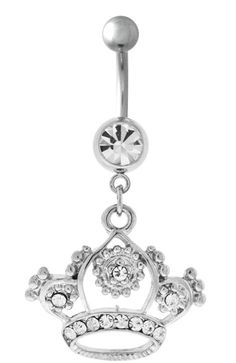 The Royal Crown Belly Button Ring