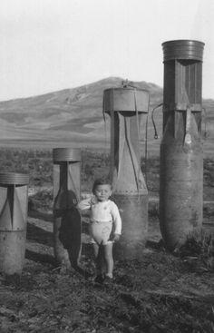 Italian child with bombs- 1940