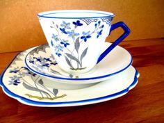 Art Deco / Vintage China Tea Set Trio.Staffordshire Rosina China.4133 British. in Pottery, Porcelain & Glass, Porcelain/ China, Royal Albert, Tableware | eBay