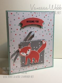 A Little Foxy Suite - Vanessa Webb Stampin' Up! Independent Demonstrator Australia - Follow me for more cute, original stamping and paper-craft ideas - pinned regularly!