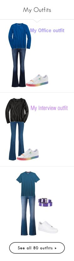 """""""My Outfits"""" by sierra-ivy on Polyvore featuring 7 For All Mankind, J.Crew, STELLA McCARTNEY, Calvin Klein Jeans, Toad&Co, NIKE, Ports 1961, Gucci, Lands' End and L.L.Bean"""
