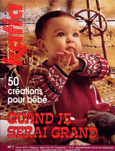 Album Archive - Katia 07 Layette (fr, nd) Knitting Books, Knitting For Kids, Baby Knitting Patterns, Crochet For Kids, Crochet Book Cover, Crochet Books, Knitting Magazine, Crochet Magazine, Pull Bebe