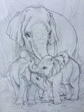Music drawings doodles sketches Ideas for 2019 Baby Elephant Drawing, Elephant Sketch, Baby Drawing, Elephant Art, Painting & Drawing, Elephant Drawings, African Elephant, Animal Sketches, Animal Drawings