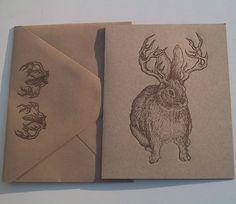 jackalope letterpress cards